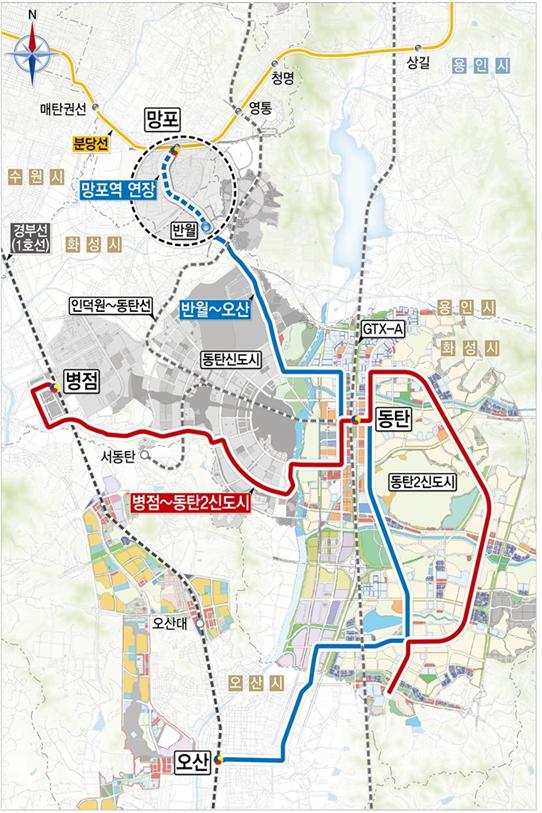 경기도내 최초 트램 노선 '동탄 도시철도' 밑그림 나왔다‥22일 기본계획 승인 신청