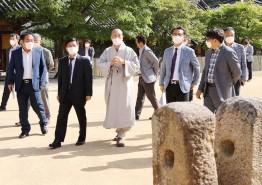 김현모 문화재청장 강진 국보사찰 방문